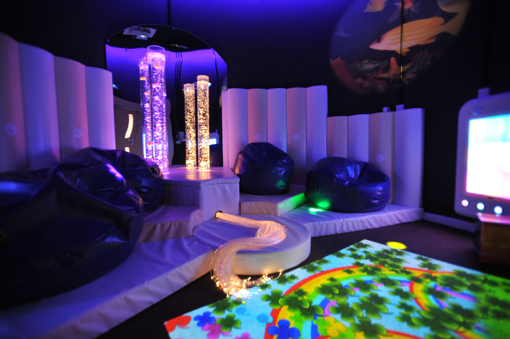 Beanbags And Interactive Floor In A Sensory Room Rompa Blog