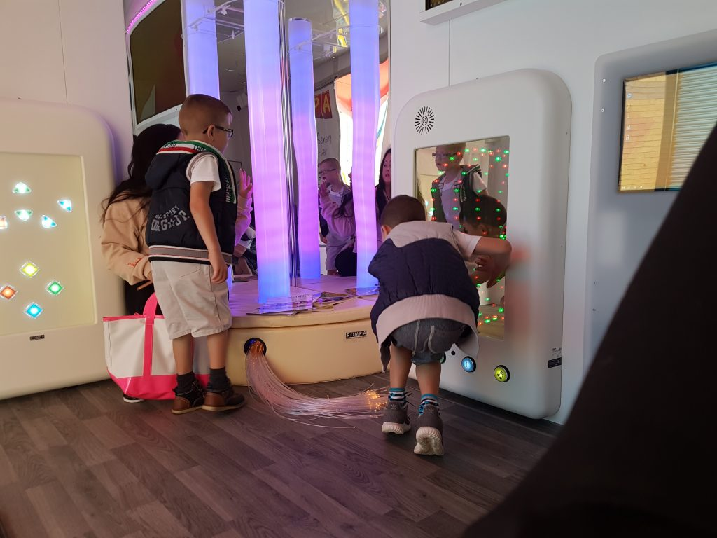 Children Enjoying the Sensory Bus