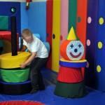Ollie enjoying the soft play area