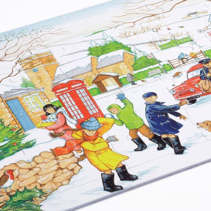 Village Scene Jigsaw - Winter