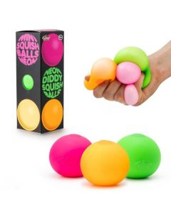 Neon Diddy Squish Ball Pack of 3